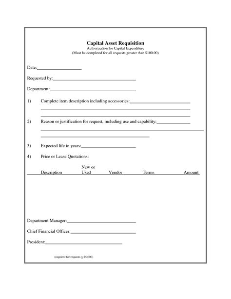 capital expenditure template best photos of authorization for expenditure form