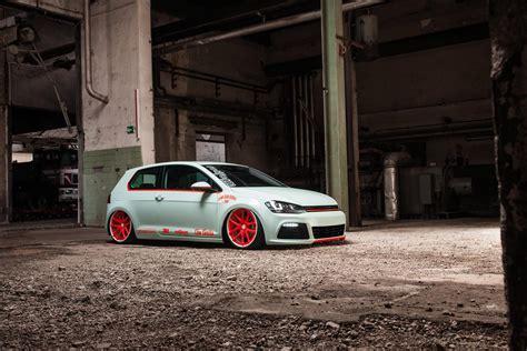 lowered cars wallpaper volkswagen golf vii gets light tron treatment video