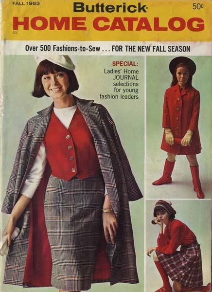 sewing pattern catalogs butterick catalog fall 1963 my vintage butterick