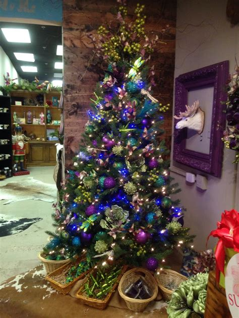 Purple and blue christmas tree at one posh place in grapevine tx myposhplace com christmas