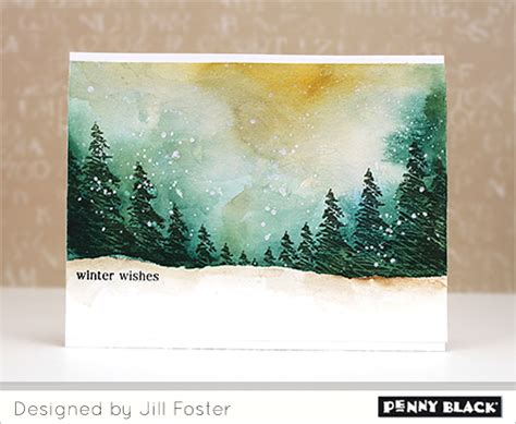 tutorial watercolor christmas cards new pb j video the penny black blog