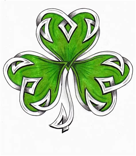 tribal clover tattoo 71 shamrock tattoos ideas with meanings