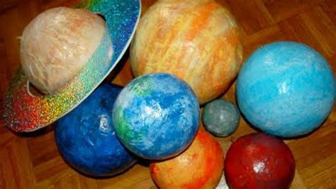 How To Make Paper Planets - how to create a paper mache solar system diy crafts