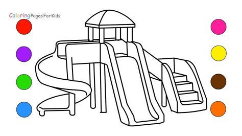 playground coloring pages how to draw playground coloring pages for learn