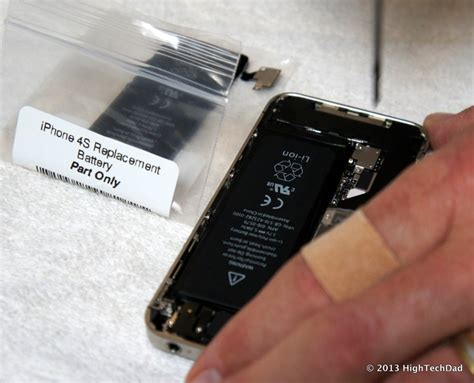 iphone battery replacement how to easily remove install replace an apple iphone 4s battery hightechdad