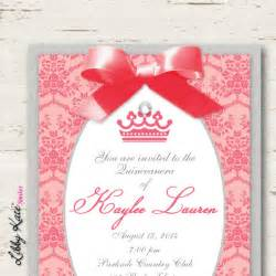 coral quinceanera invitations sweet 16 sweet 15 invitation