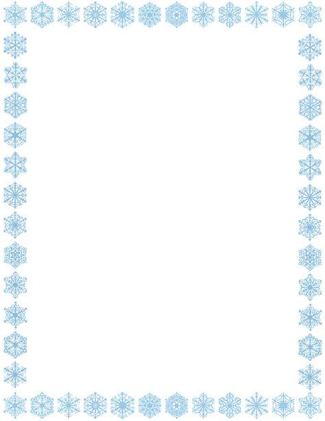 snowflake clipart white border pencil and in color