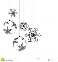 black and white decorations decorations separated on white background stock