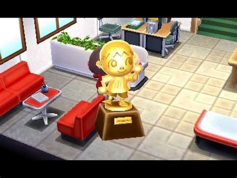 happy home designer villager furniture animal crossing hhd villager statue gameplay youtube