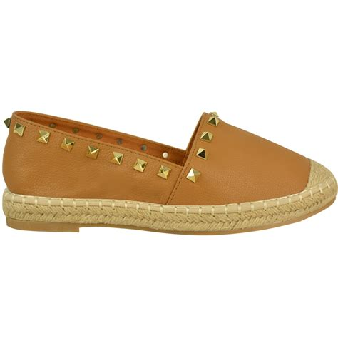 flats womens shoes womens studded espadrilles slip on flats summer