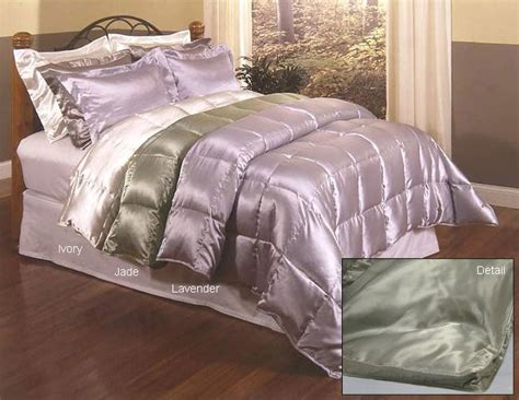 satin bedspreads and comforters satin down comforter lavender free shipping today