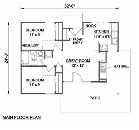 cottage style house plan 1 beds 1 00 baths 600 sq ft 2 bedroom house plans 750 sqft awesome cottage style house
