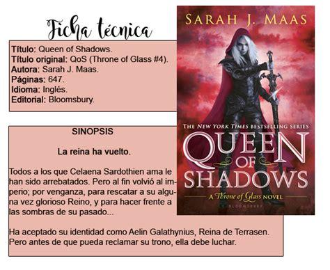 reina de sombras trono tributo entre libros rese 209 a queen of shadows reina de sombras trono de cristal 4 de
