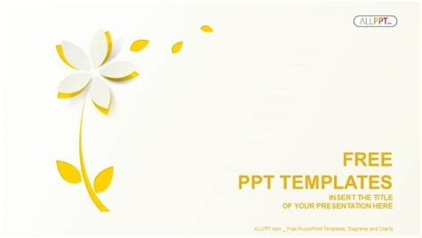 powerpoint templates free download yellow free nature powerpoint templates design