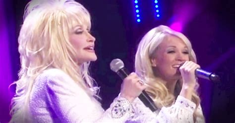 carrie underwood and dolly parton sing i will always love you music video