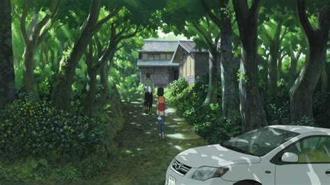 anime house traditional house in nature japan ame yuki and their