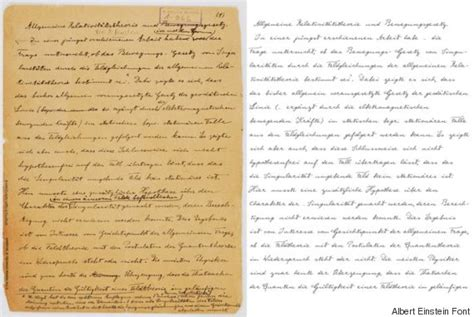 Essay On Albert Einstein by Write Like A Genius With Albert Einstein S Handwriting Font Huffpost