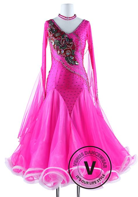 pink luxury pink luxury competition foxtrot waltz quickstep dress
