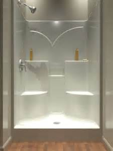 one shower stalls with seat