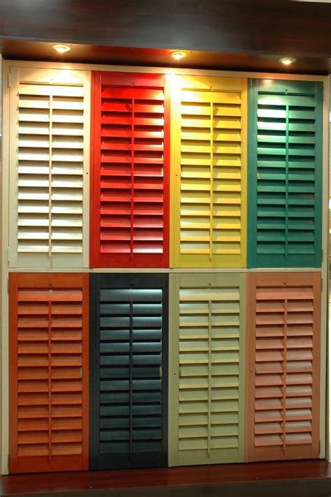 Colored Window Blinds 23 Best Images About Wooden Shutters On