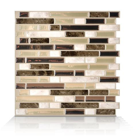 6 pieces peel and stick tile vinyl kitchen backsplash smart tiles 6 pieces 10 06 inch x 10 inch peel and