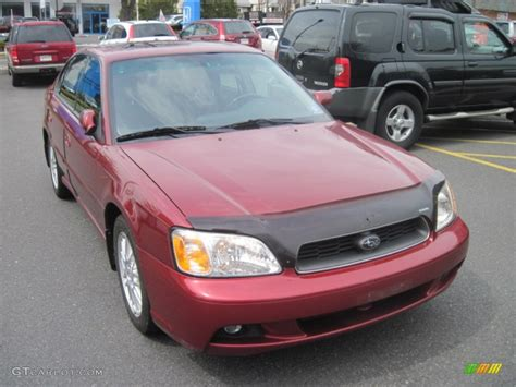 red subaru legacy 2003 regatta red pearl subaru legacy l sedan 50828344