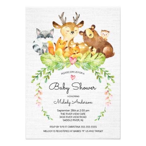 Sweet Sweet Baby Shower by Sweet Woodland Animals Baby Shower Invitation Zazzle