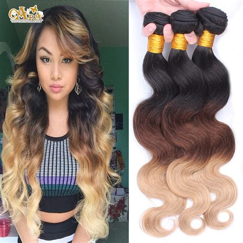3 tone hair color 6a malaysian wave ombre hair extensions three tone