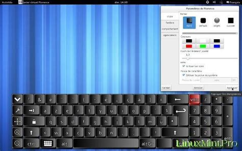 keyboard layout linux mint install florence virtual keyboard into linux mint
