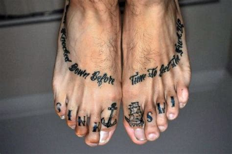 toe tattoos stunning on toe