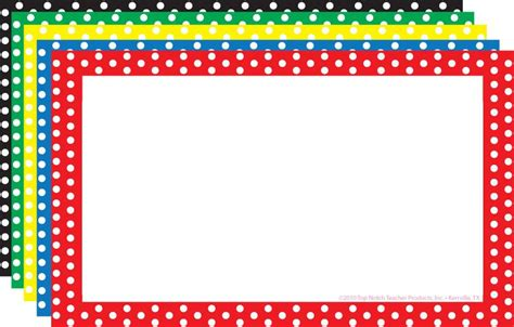 What To Do With A Borders Gift Card - border index cards 3 x 5 polka dot blank top3653
