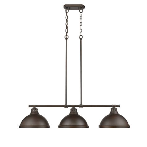 Pendant Island Lighting Golden Lighting Duncan Rubbed Bronze Three Light Island Pendant On Sale