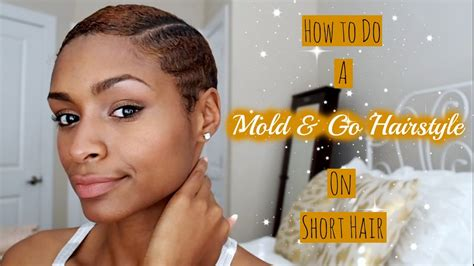 how to mold short hair how to do a mold and go hairstyle on short hair youtube