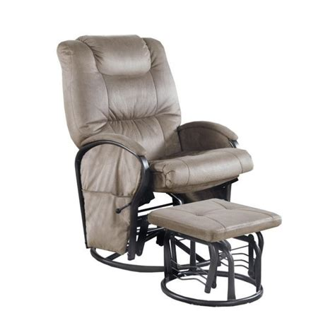 Monarch Padded Microfiber Swivel Rocker Recliner With