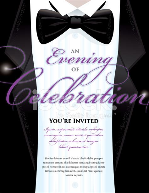 Elegant Black Tie Event Invitation Template With Tuxedo Design Stock Vector Freeimages Com Black Tie Event Program Template