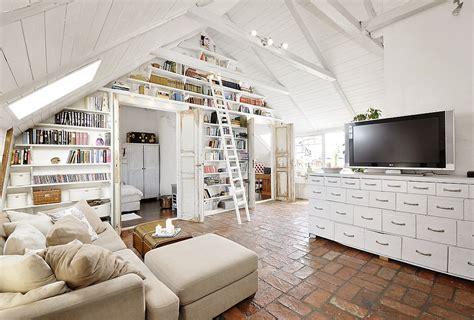 stunning attic apartment modern shabby chic styles digsdigs