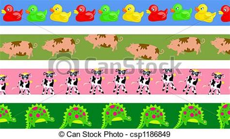 Home Design In 50 Yard Stock Illustration Of Animal Borders Set Of Four Cute