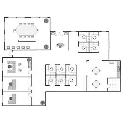 The Floor Plan example image office floor plan