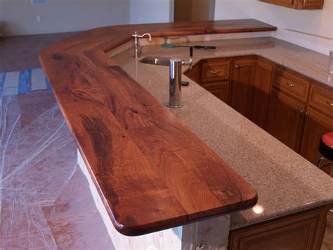 rustic wood bar tops texas mesquite bar top with custom mesquite corbels