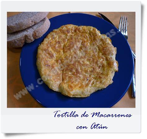 cocinar macarrones con atun tortilla de macarrones con at 218 n cocinar con recetas