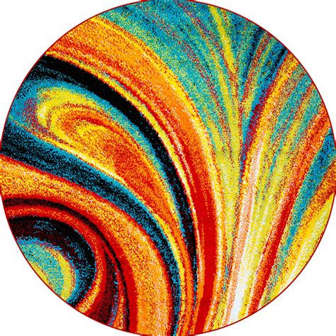 multi color rugs multi color swirls area rug 8x8 abstract carpet