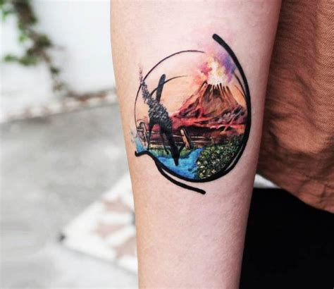 volcano tattoo by tattoo tayfun tattoo pinterest