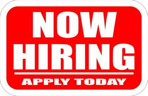 Clipart Now Hiring Sign Now Hiring Sign Template Free
