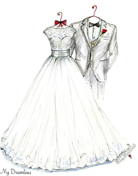 Wedding Gift Drawing by 55 Best Wedding Dress Sketches Images On