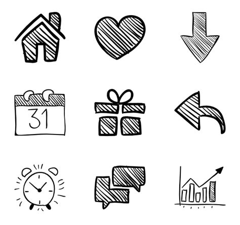 doodle draw icon pack 86 icon packs vector icon packs svg psd