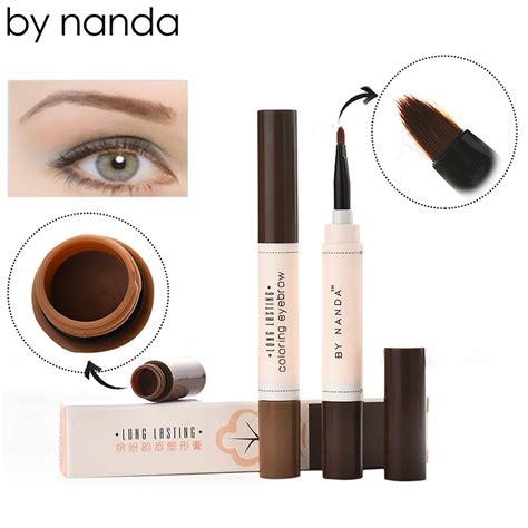 New Pensil Alis Waterproof Brown Asli by nanda professional eye brow dye pencil lasting waterproof brown tint paint henna