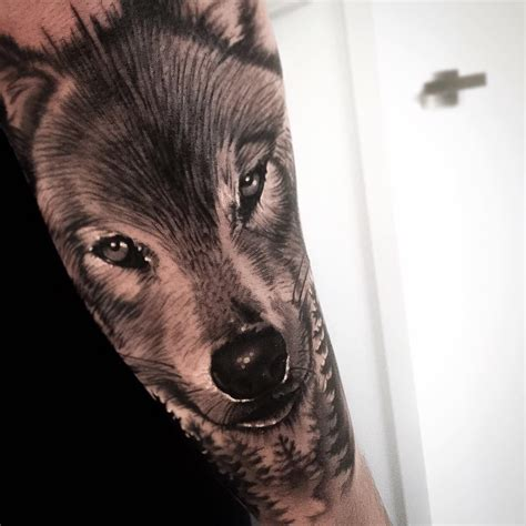 wolf tattoo forearm wolf on arm