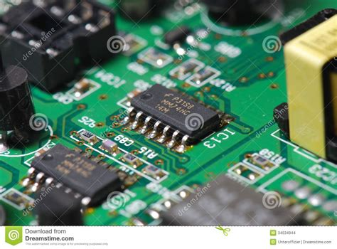 printed circuit board and integrated circuit integrated circuit stock images image 34534944