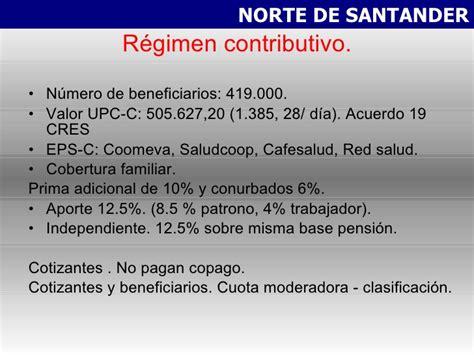 base para pagar upc en pension evolucion sector salud modulo salud publica noviembre 2010