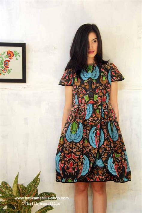 Dress Batik Tunik Sogan Zipper batik amarillis made in indonesia vestir